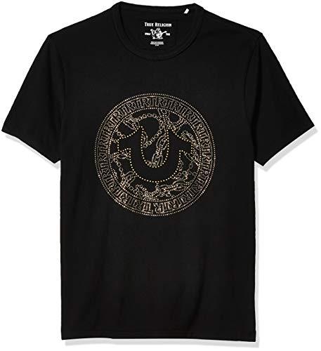True Religion Herren 103169 T-Shirt, schwarz, X-Groß