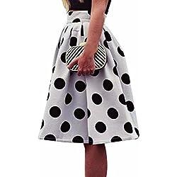 falda mujer Sannysis maxi faldas, falda de lunares, la raya del color (s)