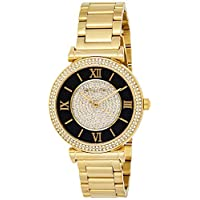 Michael Kors Womens Quartz Watch, Analog Display and Stainless Steel Strap MK3338