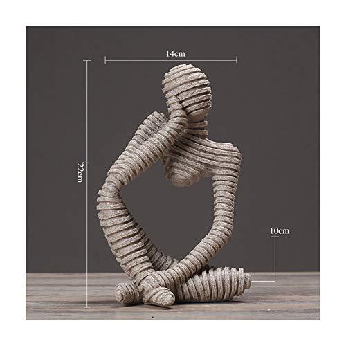 modernes kreatives Handwerk, Verzierungen, Skulptur-Büro-Wohnzimmer-Grafik, Dekorationen Toy Home Office Table Decoration Gift (Size : D) ()