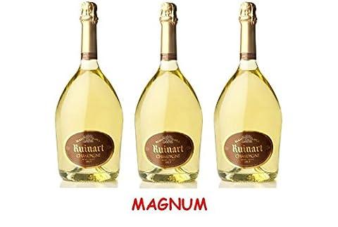 Lot de 3 Magnum de Champagne Ruinart Blanc de Blancs 1.5L