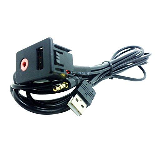 Dolity 3,5-mm-Audio-Port High-Speed-Verlängerungskabel AUX In Adpater Kabel