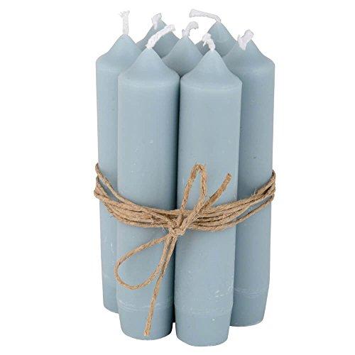 Ib Laursen Stabkerzen Set klein hellblau (8 Stück), für Feier / Haushalt / Dekoration