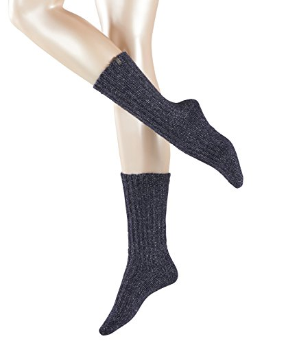 ESPRIT Damen Socken Glamour Boot, Blau (Dark Navy 6370), 39/42