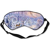 Eye Mask Eyeshade Landscape Winter Deer Sleeping Mask Blindfold Eyepatch Adjustable Head Strap preisvergleich bei billige-tabletten.eu