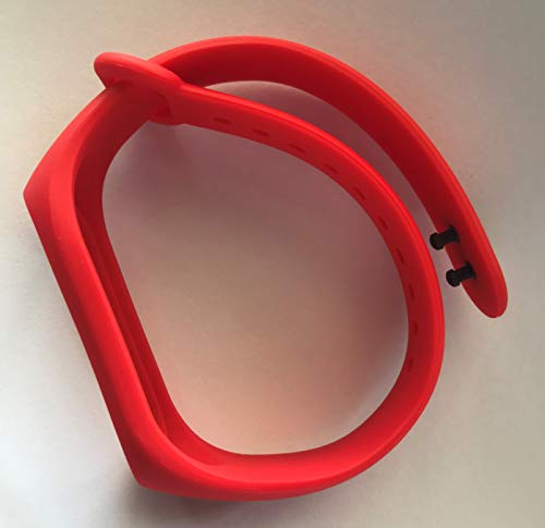 TPU Replacement Strap for Xiaomi Mi Band 3 with Dual Lock (Red)