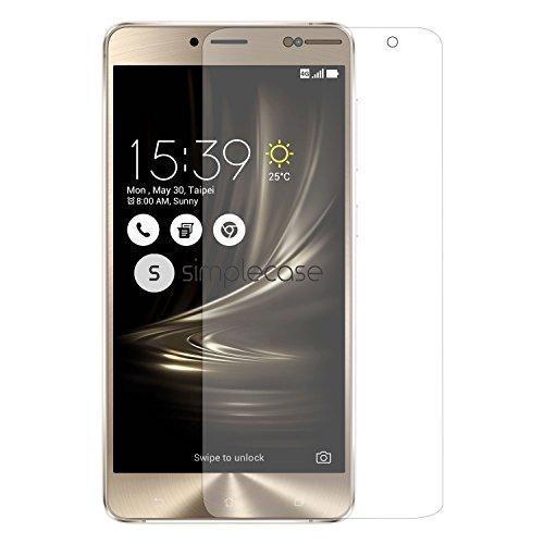Simplecase Premium Bildschirmschutz Größe: Asus Zenfone 3 Deluxe aus 9H Panzerglas/ Echtglas/ Verb&glas - Transparent