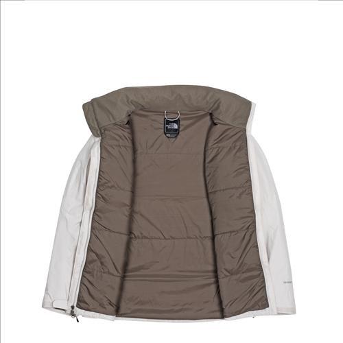 The North Face Highland chaqueta de las mujeres, color beige, tamaño L