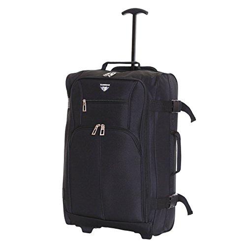 Slimbridge Lobos super ligero 55 cm equipaje de mano con ruedas, Negro