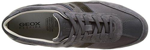 Geox U Wells C, Sneakers Basses Homme Gris (Anthracitec9004)