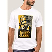 T-Shirt With Design for Men, Pubg Game, White