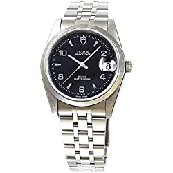Tudor reloj Prince FECHA negro Dial árabe índice Self-winding 74000bk5ar Hombres del paralelo mercancías de importación]