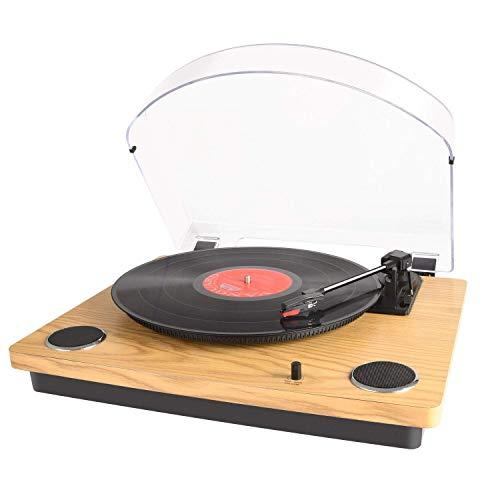 Max Pad LP Platine Vinyle avec Haut-parleurs stéréo, Lecteur de Disque Vinyle, convertisseur USB, Retour Automatique et Point d'arrêt
