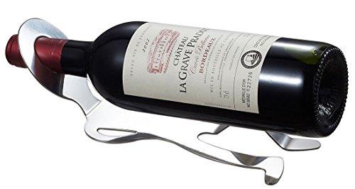 Visol Produkte Malbec Edelstahl Weinflaschenhalter, Chrom
