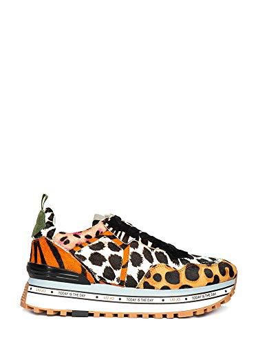 Liu jo shoes maxi alexa-running, scarpe da ginnastica basse donna, multicolore (leopard s19c1), 37 eu