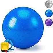 HebyTinco Pelota de Gimnasia, Pelota de Yoga, para el hogar, para el Embarazo, Pilates, Yoga, para Ejercicios