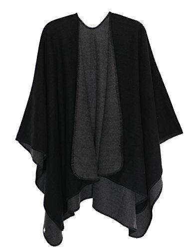DiaryLook Damen Winter Poncho Stola Böhmen Cape Reversible Schal Thick Cardigan Coat, Wrap, Einheitsgröße Cashmere Coat Petite