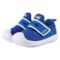 BMCiTYBM Lightweight Toddler Walking Shoes Wide Sneakers (Girls/Boys/Kids) Blue Size: 12.5 Little Kid