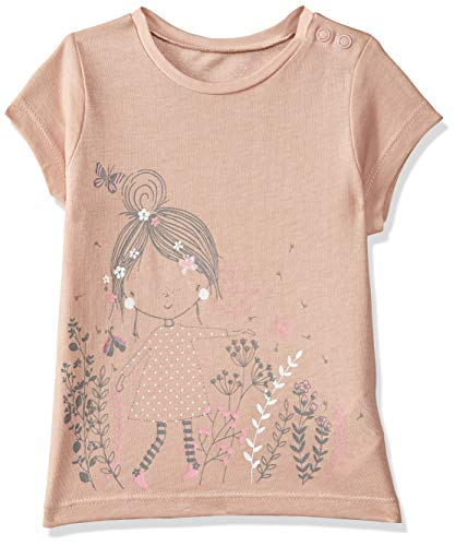 Mothercare Baby Girls' Floral Regular Fit T-Shirt (QB594-1_Red_9-12 M)