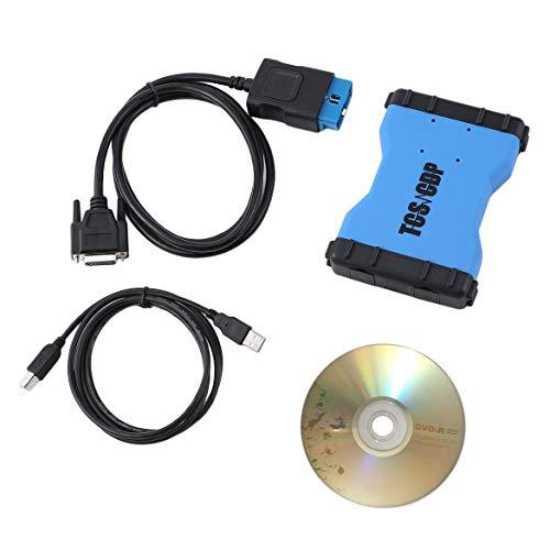 VD TCS CDP V3.0 Grün Doppel PCB Chip KEINE Bluetooth Automobil-diagnoseschnittstelle Werkzeuge für Autos Lkw mit OBD2 Kabel - schwarz & blau