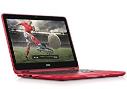 Dell Inspiron 11 3168 11.6-inch Laptop (Pentium N3710/4GB/500GB/Windows 10 Home/Integrated Graphics), Red - With Pre-Loaded MS Office 2016