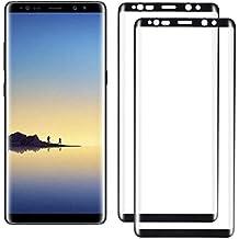 Woocika para Samsung Galaxy Note 8 Cristal Templado [2-Unidades], Protector Pantalla para Galaxy Note 8-[3D Curvado Full Coverage] Alta Definicion sin Burbujas Protector de Pantalla-Negro