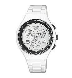 Q&Q Attractive STYLISH-SPORTS Chronograph White Dial Watch-DA86J003Y