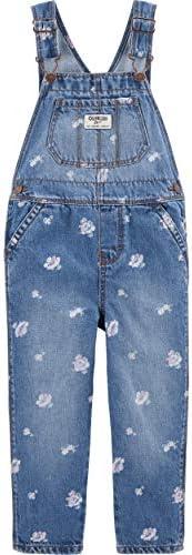 OshKosh B'Gosh - Peto de Tela Vaquera para niñas - Cornflower Blue Wash, Azul (2A