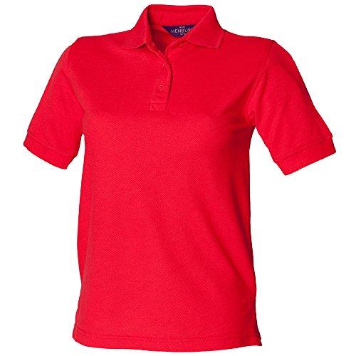 Henbury - Polo - Femme Rouge - Rouge