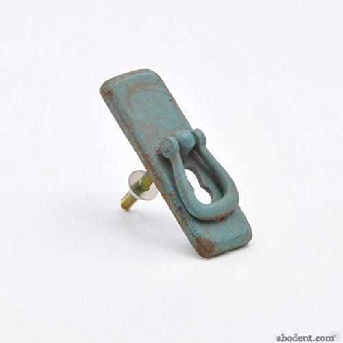 Vintage Keyhole Grün Metall Schwingen Hängegriffe/Schrankknöpfe, Bogengriffe, Schrank-Zubehör Knöpfe, Kabinettgriffe, für Schränke, Türen, Schränke, Schubladen, Möbel und Küchen