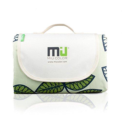 MIU COLOR® Picknickdecke für Familie 200 x 145 cm-Stranddecke Picknickmatte mit wasserabweisender Rückseite