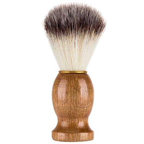Deniseonuk Effektiv Dachshaar Rasierpinsel Salon Beauty Reinigungsgerät mit Holzgriff für Männer