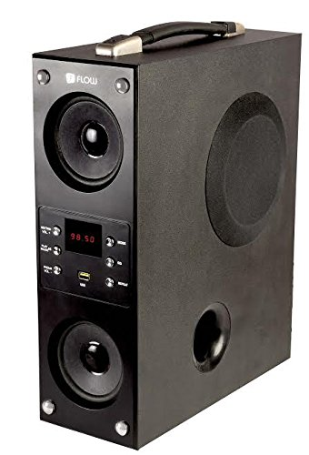 Flow Mini Boom Box Bluetooth Tower Speaker for Music Lovers Fully Loaded Feature 1.2 Feet Height (Black)