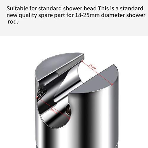 Soporte Ducha de Mano 18-25 mm ABS Ajustable Soporte de Ducha Giratorio Cromado de 360 /° para Barra Deslizante Abrazadera Deslizante Reemplazo de Ba/ño Zorara Soporte de Ducha