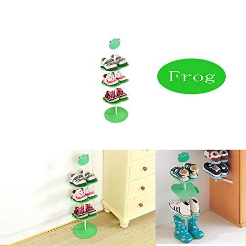 Duobao Dreidimensionales Kinderschuh-Regal Schuhregal l grün