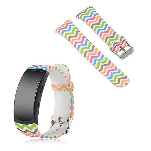 iFeeker Für Samsung Gear Fit 2 SM-R360 Ersatz Soft Uhrenarmband Zubehör Silikon-bunten Armband Bügel Band Armband für Samsung Gear Fit 2 SM-R360 Sport Band Smartwatch (Samsung Gear 2 Ersatz-bildschirm)