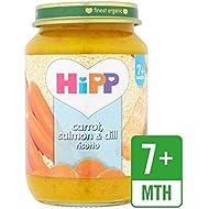 Hipp Organique Carotte, Le Saumon Et L'Aneth Risotto 190G - Paquet de 2