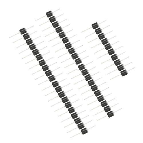 sourcing map 50 Stück 6A10 Gleichrichter Diode 6A 1000V Axiale Elektronische Silizium Dioden