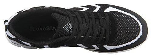 iLoveSIA ,  Herren Sneaker Low-Tops Schwarz/Weiß
