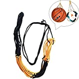 AITOCO Basketball Soccer Net Pocket Thick Black And Yellow Mesh Ball Nylon Bag
