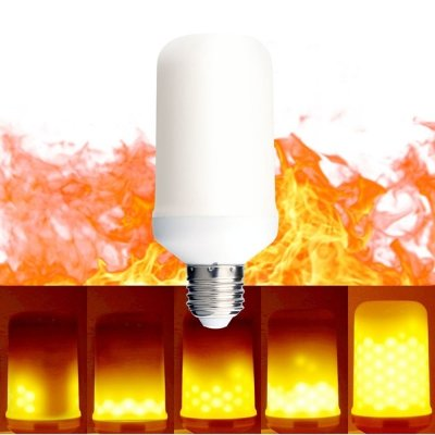 Zorbes KWB LED Flame Effect Fire Light Bulbs 2 modes Creative with Flickering Emulation Lamp
