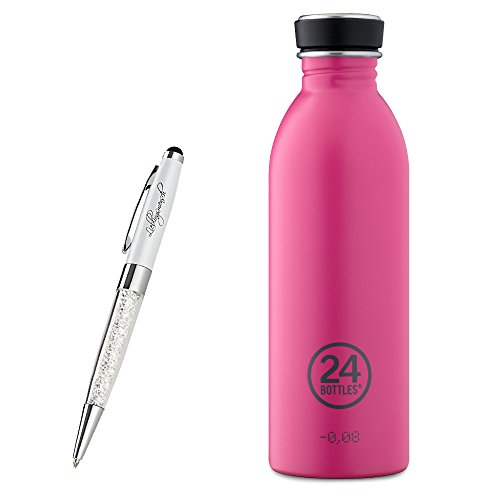 24 Bottles Trinkflasche Urban 250 ml | 500 ml | 1000 ml versch. Farben inkl. Lieblingsmensch Kugelschreiber, Größe:500 ml, Farbe:passion pink