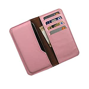 i-KitPit : PU Leather Wallet Flip Pouch Case Cover For Oppo Neo (LIGHT PINK)