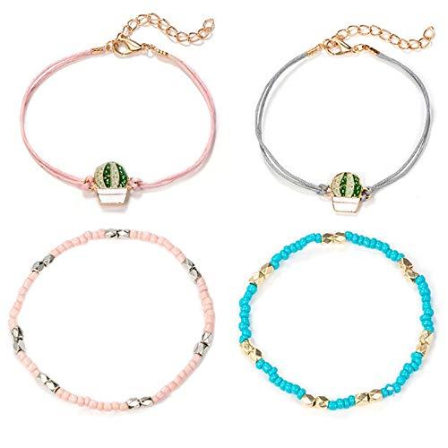 Lopbinte Nette Sü?e M?dchen Blau Rosa Acryl Perlen Armband Mode B?hmen HEI? Luft Ballon Armb?nder Armreifen Sommer Strand Boho Geschenk