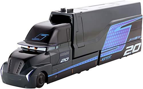 Disney Cars Camion Multi-Lanciatore di Jackson Storm, Playset Giocattolo per Bambini 4+ Anni, FYP07