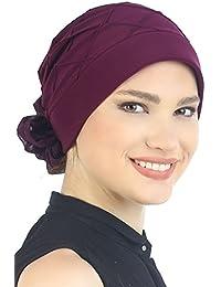Praktischer Hut Mit Diamant-Muster Und Blumen für Haarverlust