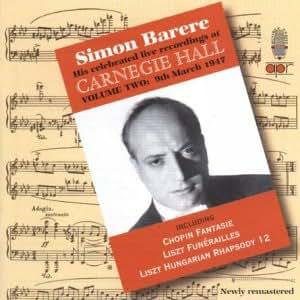 Barere: Regist. Dal Carnegie Hall Vol.2