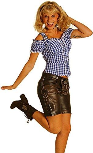 Sexy Carmenbluse Trachtenbluse Landhaus Mieder HANNI in verschiedenen Ausführungen, Größen:XS;Farben:royalblau (Sexy Damen Trachten Shirt)