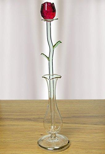 Rosa in vetro per lui o per lei, simbolo di amore eterno, da regalare a san valentino, al compleanno, a natale, il giorno dell'anniversario