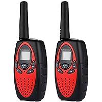 FLOUREON PMR Funkgerät 8 Kanäle Walkie Talkies 2-Wege Radio Walki Talki Funkhandy Interphone mit LCD Display Rot